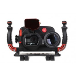 Hugyfot Vision custodia subacquea in alluminio per GoPro Hero 5 e 6 - Macro kit