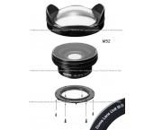 Inon Lens Kit UWL-95 C24 M52 + Inon Dome Lens Unit III G (Cristallo Ottico)