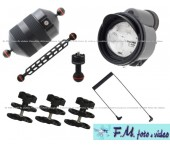 Kit Inon Z-330 Strobe & Inon Mega Float Arm M con Accessori Flex-Arm