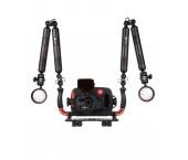 Hugyfot Vision custodia subacquea in alluminio per GoPro Hero 5 e 6 - Arius Kit
