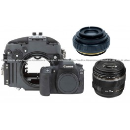 Inon X-2 Housing + MRS60 Port + Canon Eos 80D + Canon EF-S 60mm f/2.8 Macro