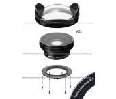 Inon Lens Kit UWL-95 C24 M52 + Inon Dome Lens Unit III A (Acrilico)
